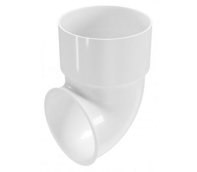 Колено сливноe к водосточной трубе Regenau D80 (белое)