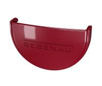 Заглушка водосточного желоба Regenau D125 (бордовая)