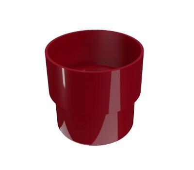 Соединитель водосточной трубы Regenau D80 (бордовый)