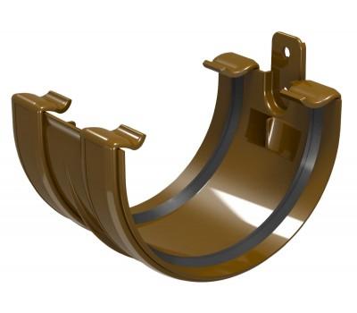 Соединитель водосточного желоба Regenau D125 (коричневый)