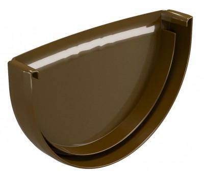 Заглушка водосточного желоба Regenau D125 (коричневая)