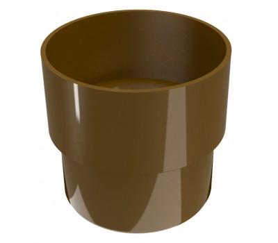 З'єднувач ринви Regenau D80 (коричневий)