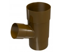 Тройник водосточной трубы Regenau D100 (коричневый)