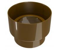 Соединитель водосточной трубы Regenau D100 (коричневый)