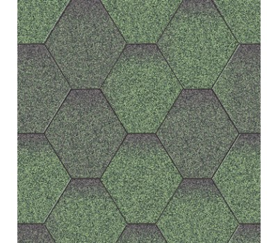 Битумная черепица Акваизол Мозаика (зеленая микс)
