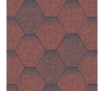 Бітумна черепиця Акваізол Мозаїка (червона мікс)