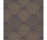 Битумная черепица Акваизол Мозаика (коричневая микс)