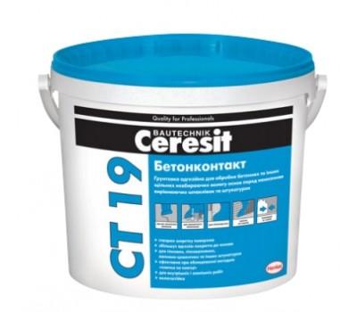 Грунтовка адгезионная Ceresit CT 19 белая (4,5 кг)