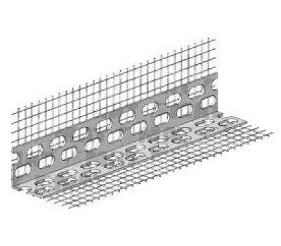 Профиль угловой Ceresit CT 340 D/03 пластиковый с сеткой 100 х 100 мм (3 м)