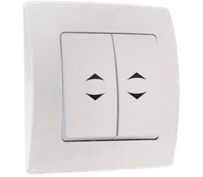 Выключатель проходной Makel на 2 клавиши (белый)