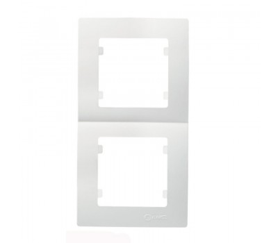 Рамка вертикальная Makel на 2 сегмента (белая)