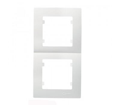 Рамка вертикальна Makel на 2 сегмента (біла)