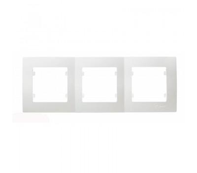 Рамка Makel на 3 сегмента (белая)