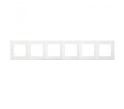 Рамка Makel на 6 сегмента (белая)