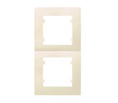 Рамка вертикальная Makel на 2 сегмента (кремовая)