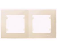 Рамка Makel на 2 сегмента (кремовая)