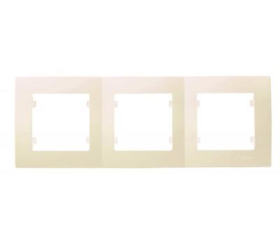 Рамка Makel на 3 сегмента (кремовая)