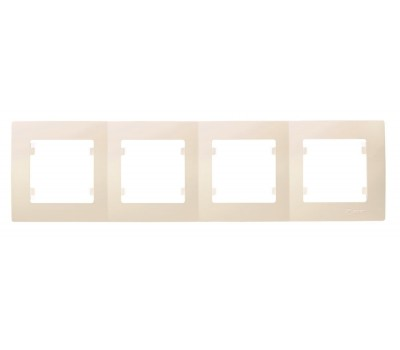 Рамка Makel на 4 сегменти (кремова)