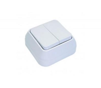 Выключатель Makel на 2 клавиши IP20 (белый)