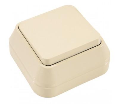 Вимикач Makel на 1 клавішу IP20 (кремовий)