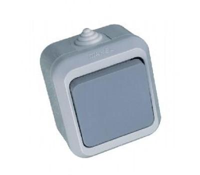 Выключатель Makel на 1 клавишу IP44 (серый)
