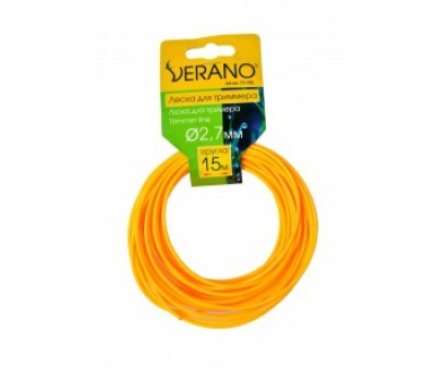 Ліска для мотокоси Verano зірка 15 м (2.4 мм)