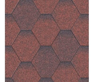 Плитка коньково-карнизная для битумной черепицы Акваизол (красная микс)
