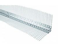 Уголок алюминиевый Эконом с сеткой (2,5 м)
