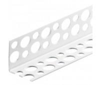 Уголок для мокрой штукатурки пластиковый 6 x 34 мм (3,0 м)