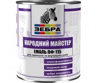 Эмаль Зебра ПФ-115 Народный Мастер №512 0.9 кг (Белая акация)