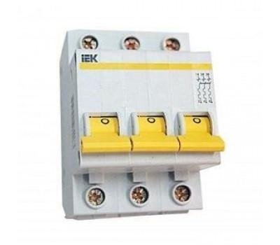 Автоматический выключатель трехполюсный IEK типа С 63 А (4.5 кА)