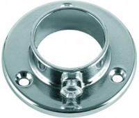 Держатель для трубы одежной круглой c шурупом 25 мм
