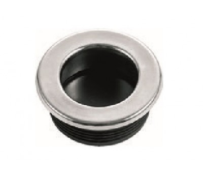 Потайная ручка круглая 34 мм (Хром)
