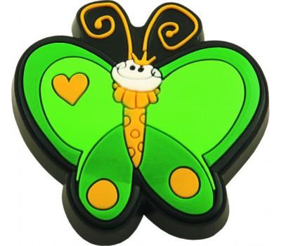 Ручка-кнопка мебельная Fluture verde 22 x 50 x 49 (Зеленый)