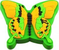 Ручка-кнопка меблева Fluture galben / verde 21 x 47 x 42 (Зелений)