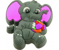 Ручка-кнопка меблева Elefant 22 x 42 x 47 (Сірий)