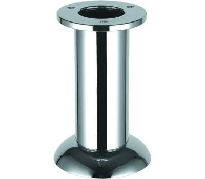 Ножка мебельная круглая регулируемая 100 x 32 мм Хром