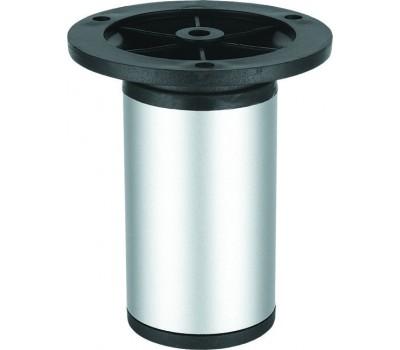 Ножка мебельная круглая регулируемая 100 x 50 мм Сатин TL044