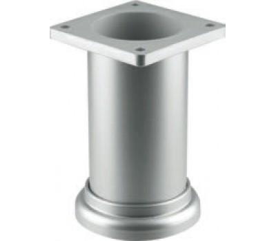 Ножка мебельная круглая регулируемая 80 x 50 мм Сатин