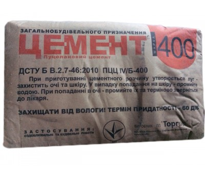 Цемент ТоргБуд М-400 ПЦЦ IV Б (25 кг)