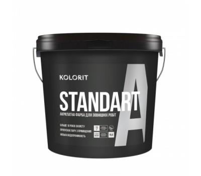 Краска Kolorit Standart A LA фасадная латексная 9 л