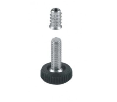 Втулка для ножки регулируемой М6 20 мм (Черная) 100 шт