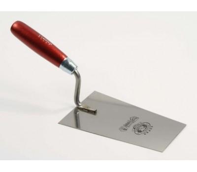 Кельма трапециевидная широкая Olejnik нержавеющая с деревянной ручкой 160 мм