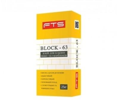 Клей для газобетона FTS Block-63 25 кг