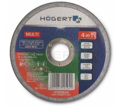 Диск отрезной Hogert по металлу, бетону, керамике HT6D644 1 x 125 мм