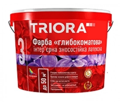 Краска Triora глубокоматовая интерьерная латексная 3 л