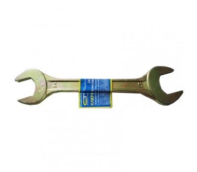 Ключ ріжковий Сібртех жовтий цинк 24 х 27 мм