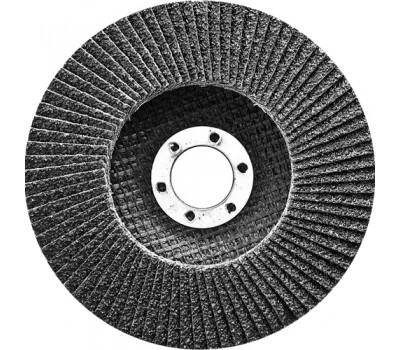 Круг лепестковый Сибртех торцевой конический 150 х 22,2 мм (P 80)