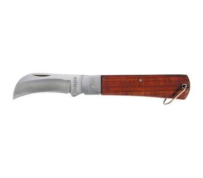 Нож складной Sparta с загнутым леззвием и деревянной ручкой 200 мм