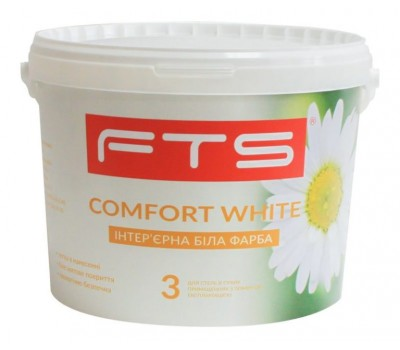 Фарба FTS Comfort White 3 інтер'єрна аклилова 9 л